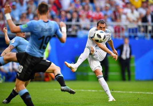 Artem Dzyuba, le 25 juin face à l'Uruguay.