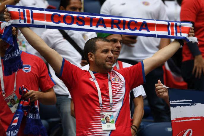 Un supporteur du Costa Rica à Saint-Pétersbourg, le 22 juin 2018.