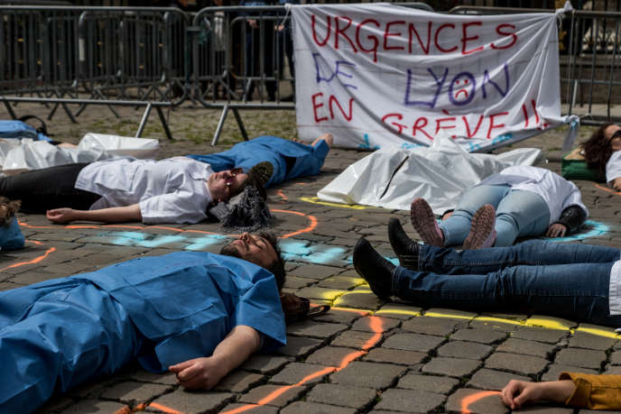 Manifestation à Lyon, le 16 avril.
