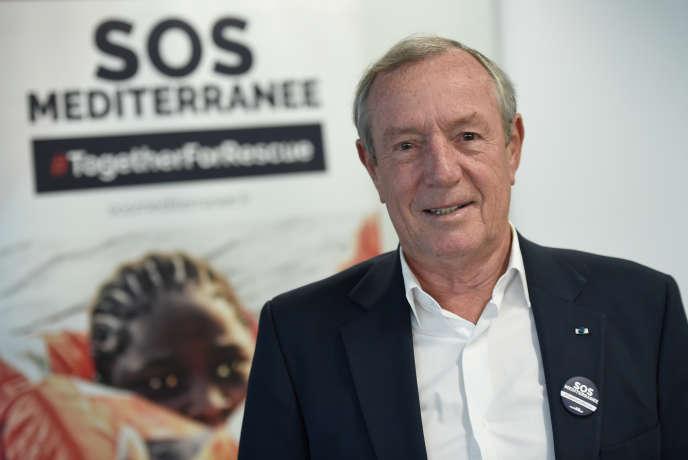 Francis Vallat, président de SOS-Méditerranée, en octobre2017, àIssy-les-Moulineaux (Hauts-de-Seine).