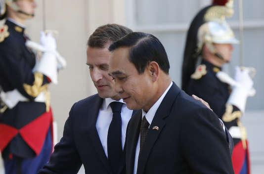 Le président Macron s'est entretenu, lundi25juin, avec le premier ministrePrayuth Chan-ocha à l'Elysée.