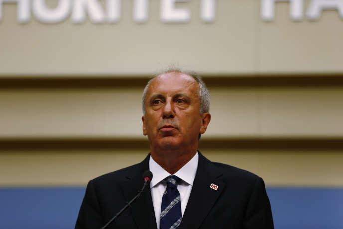 Muharrem Ince, le candidat déçu du parti d'opposition CHP, à Ankara, le 25 juin.