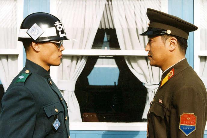 Une image extraite du film coréen dePark Chan-wook,« JSA (Joint Security Area)» («Gongdong gyeongbi guyeok JSA»).