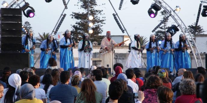 Le «maalem» Hamid El-Kasri au Festival gnaoua et musiques du monde, à Essaouira, le 21juin 2018.