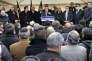 Bernard Cazeneuve, alors ministre de l'intérieur, lors d'un déplacement à Créteil consacré à la lutte contre l'antisémitisme, le 7 décembre 2014.