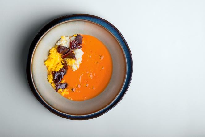 Le salmorejo, une soupe andalouse, ancêtre du gaspacho.