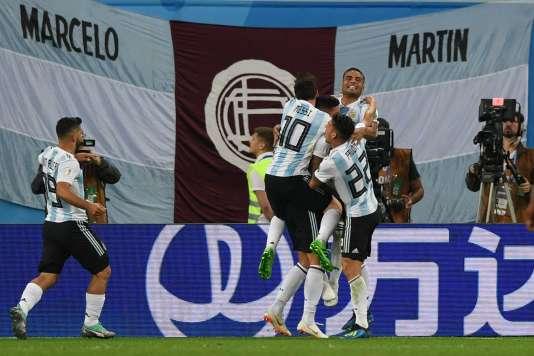 La joie des Argentins après le second but qui les qualifie.