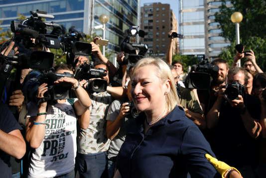 Inès Madrigal, devant le tribunal de Madrid, en Espagne, le 26 juin.