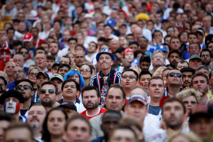 Lors du match France-Danemark, au stade Loujniki de Moscou, le 26 juin.