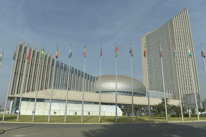 Le siège de l'Union africaine, à Addis-Abeba, en Ethiopie, en janvier 2018.