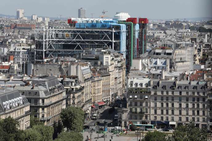 Le Centre Pompidou, dans le 4e arrondissement de Paris, le 26 juin.