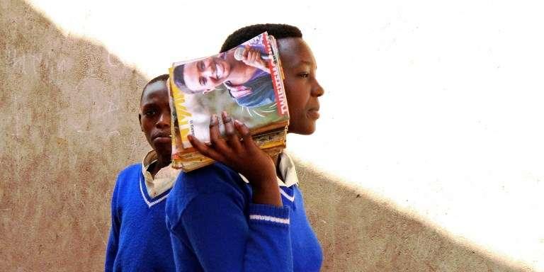 Des élèves au camp de réfugiés congolais de Kiziba, au Rwanda, en 2016.