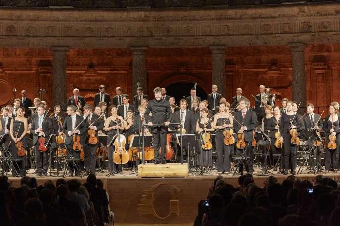 Pablo Heras-Casado a dirigé l'orchestre Les Siècles au Festival de Grenade, le 22 juin 2018.