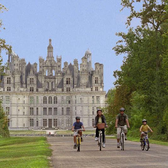 Devant le château de Chambord...