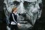 Portrait de Samuel Beckett sur un mur de Portobello Road, à Londres.