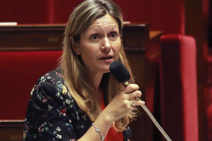 La présidente de la commision des lois de l'Assemblée, Yaël Braun-Pivet, lors des débats sur la moralisation de la vie publique, le 27 juillet 2017.