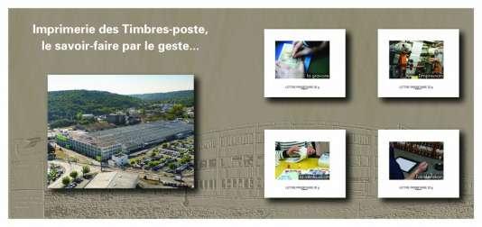 Collector de quatre timbres sur l'Imprimerie des timbres-poste de Boulazac, vendu 9 euros, tiré à 1500 « petits» exemplaires.