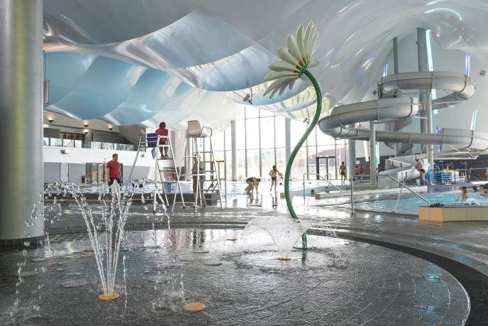 Le complexe aquatique Aquarena à Arras qui récupère la chaleur des eaux usées, en 2017.