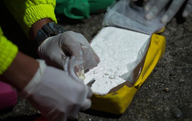 Saisie de cocaïne destinée au marché européen sur le port colombien de Buenaventura en août 2017.