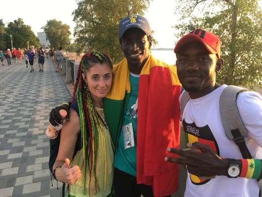 A gauche de l'image, Julie et Amadou ont constaté le même phénomène qu'Alioune.