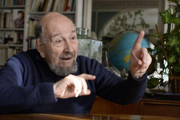 Le géopolitologue Yves Lacoste, en 2014.