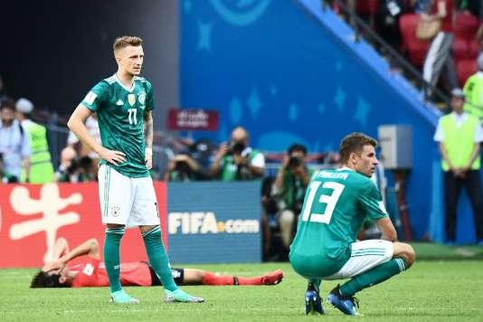 L'incompréhension de Marco Reus et Thomas Müller après l'élimination de la Mannschaft.