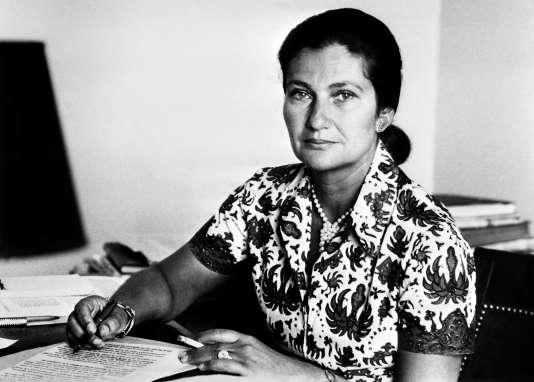 Simone Veil le 1er janvier 1974, alors ministre de la santé.