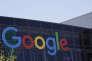 Le logo Google au siège de la compagnie, à Mountain View, Californie.