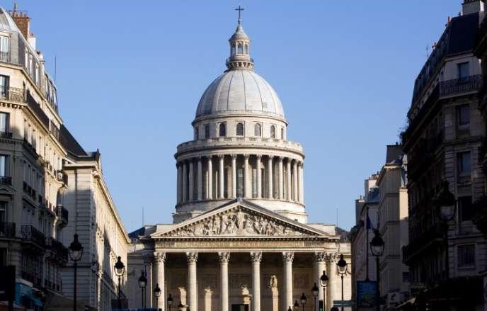 Le Panthéon, à Paris, photographié depuis la rue Soufflot, le 16 février 2010.