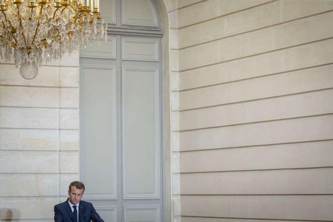 Emmanuel Macron à l'Elysée, le 15 juin.