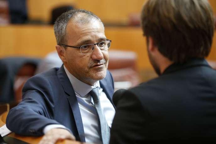 Le président de l'Assemblée corse, le 28 juin 2018, à Ajaccio.