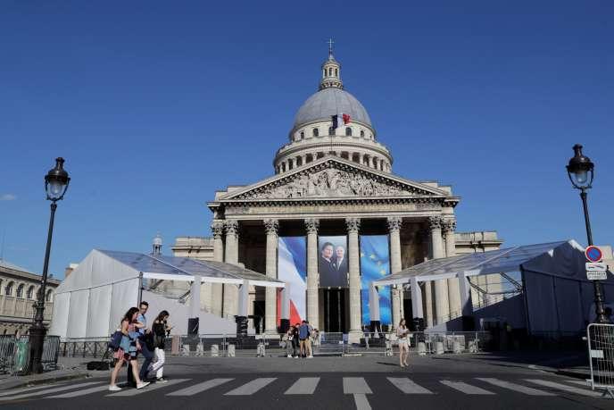 Le Panthéon, lieu de repos des grands hommes honorés par laRépublique, à Paris, le 28 juin.
