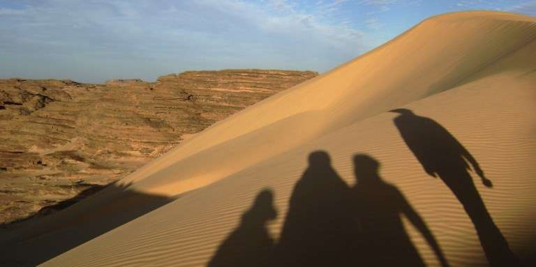 Dans le désert près de Tamanrasset, en Algérie, en 2008.