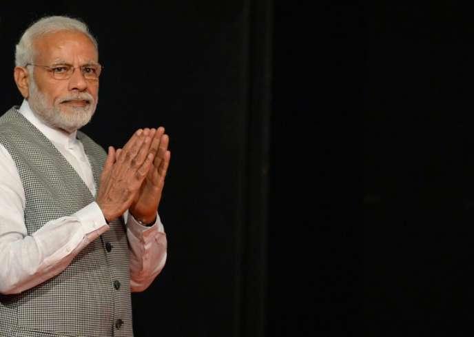 Le premier ministre indien, Narendra Modi, à Bombay, le 26 juin.