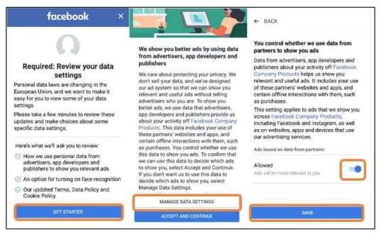 Certaines options sont activées par défaut sur Facebook. Il faut généralement plus de clics avant de désactiver certains paramètres moins protecteurs de la vie privée.