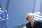 La Première ministre Theresa May arrive à Bruxelles le 28 juin 2018 pour rencontrer les membres de l'Union européenne.