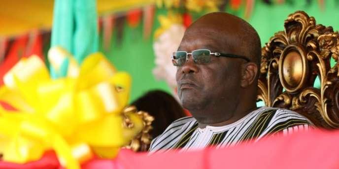 Le président burkinabé, Roch Marc Christian Kaboré, à Zaktubi, en novembre 2017.