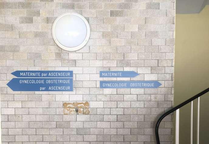 A la maternité du Blanc, dans l'Indre, mercredi 27 juin 2018, dernier jour de son activité avant la suspension de son activité en juillet et août.