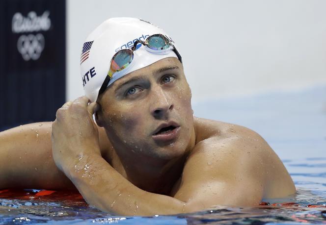 Le nageur américain Ryan Lochte, lors des Jeux olympiques de Rio, en 2016.