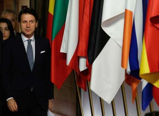 Giuseppe Conte à la fin de la première journée de discussions.