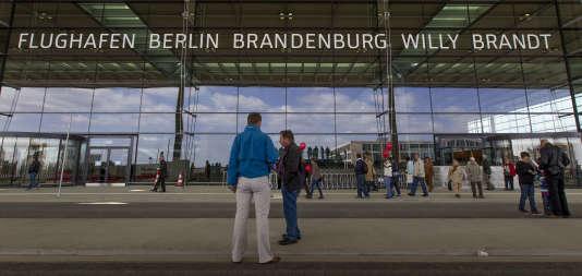 Le site du futur aéroport international de Berlin-Brandenbourg Willy-Brandt, le 12 mai 2012.