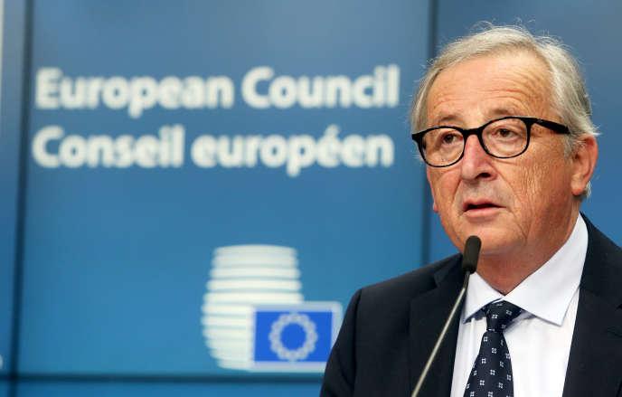 Le président de la Commission européenne Jean-Claude Juncker, le 29 juin à Bruxelles.