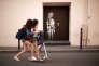 L'œuvre de Banksy sur l'une des issues de secours de la salle de spectacle du Bataclan, à Paris, le 25 juin.