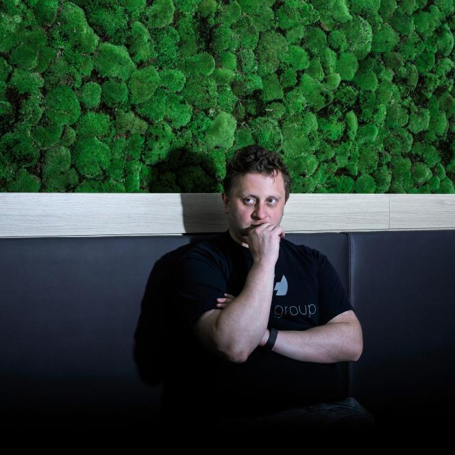 Octave Klaba, fondateur d'OVH, au siège social de l'entreprise à Roubaix (Nord), le 22 juin.