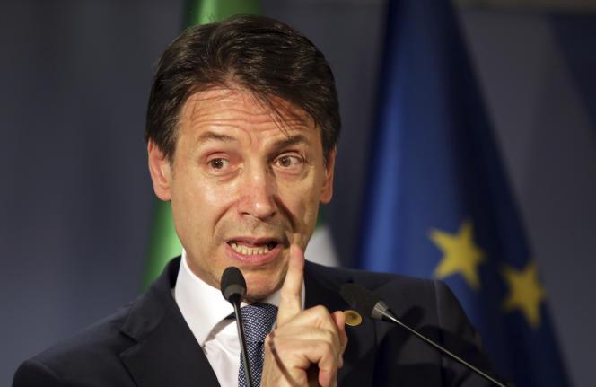 Le président du conseil italien Giuseppe Conte , le 29 juin à Bruxelles.