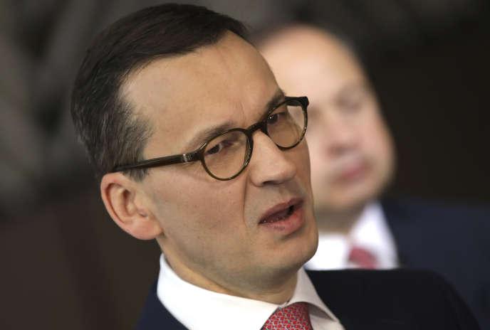 Mateusz Morawiecki, le premier ministre polonais, à Bruxelles, le 29 juin.