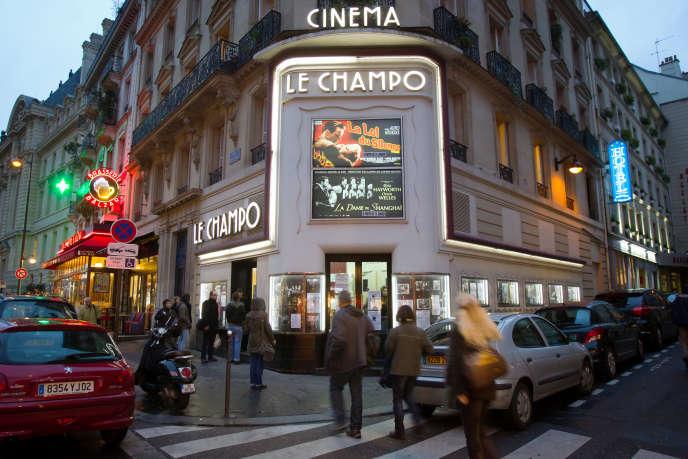 La façade du cinéma Le Champo à Paris en janvier 2011.