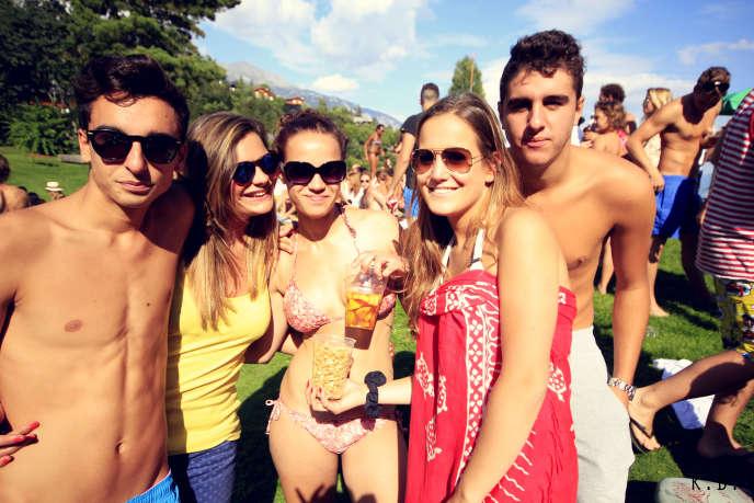 Fête étudiante sur le campus de Les Roches
