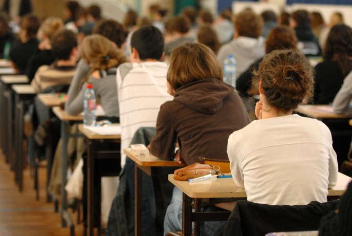 Epreuve du baccalauréat au lycée Clemenceau de Nantes.