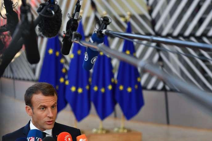Emmanuel Macron lors du sommet européen, vendredi 29 juin 2018.